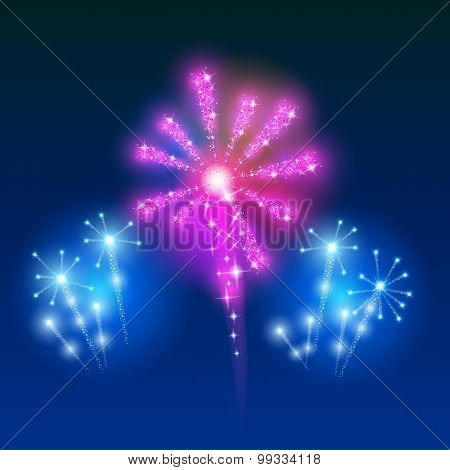 Beautiful Vector Fireworks