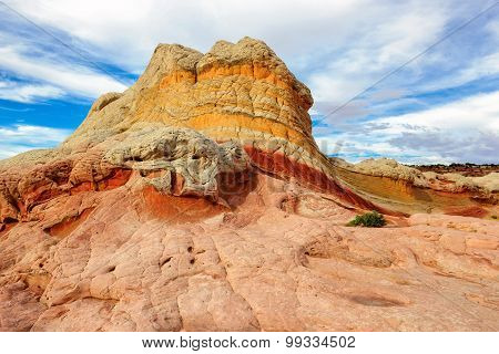 Sandstone rock formation at the White Pocket, Arizona