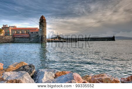 Collioure And Church