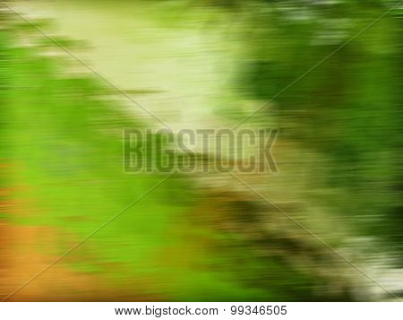 Abstract glowing light on a green background