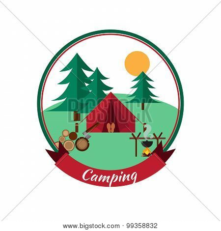 Forest Camping And Hiking