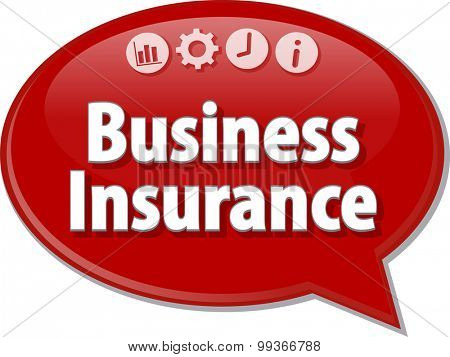 Blank business strategy concept infographic diagram illustration Business Insurance