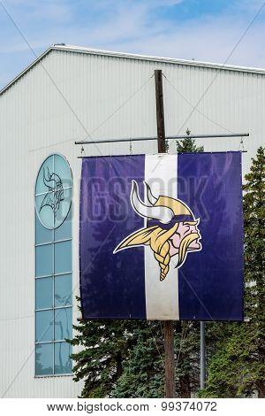 Minnesota Vikings Practice Facility And Flag