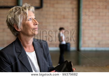 Portrait Of A Businesswoman In A Depot