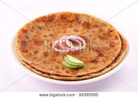 Tasty and crispy Indian  Aloo Paratha