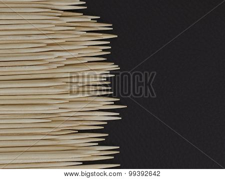 Toothpicks on Black