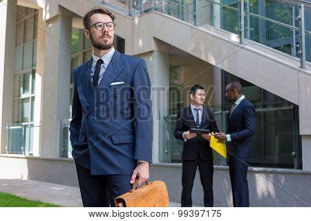 Portrait of multi ethnic business team