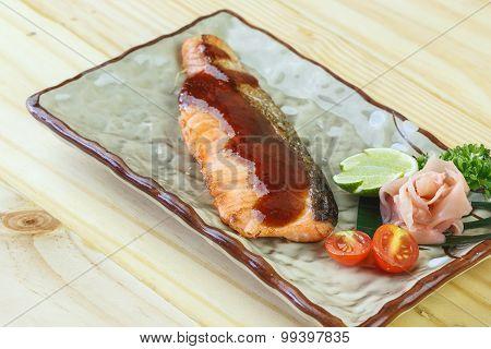 Traditional Japanese Food,  Snow Fish Grilled Or Gindara Teriyaki
