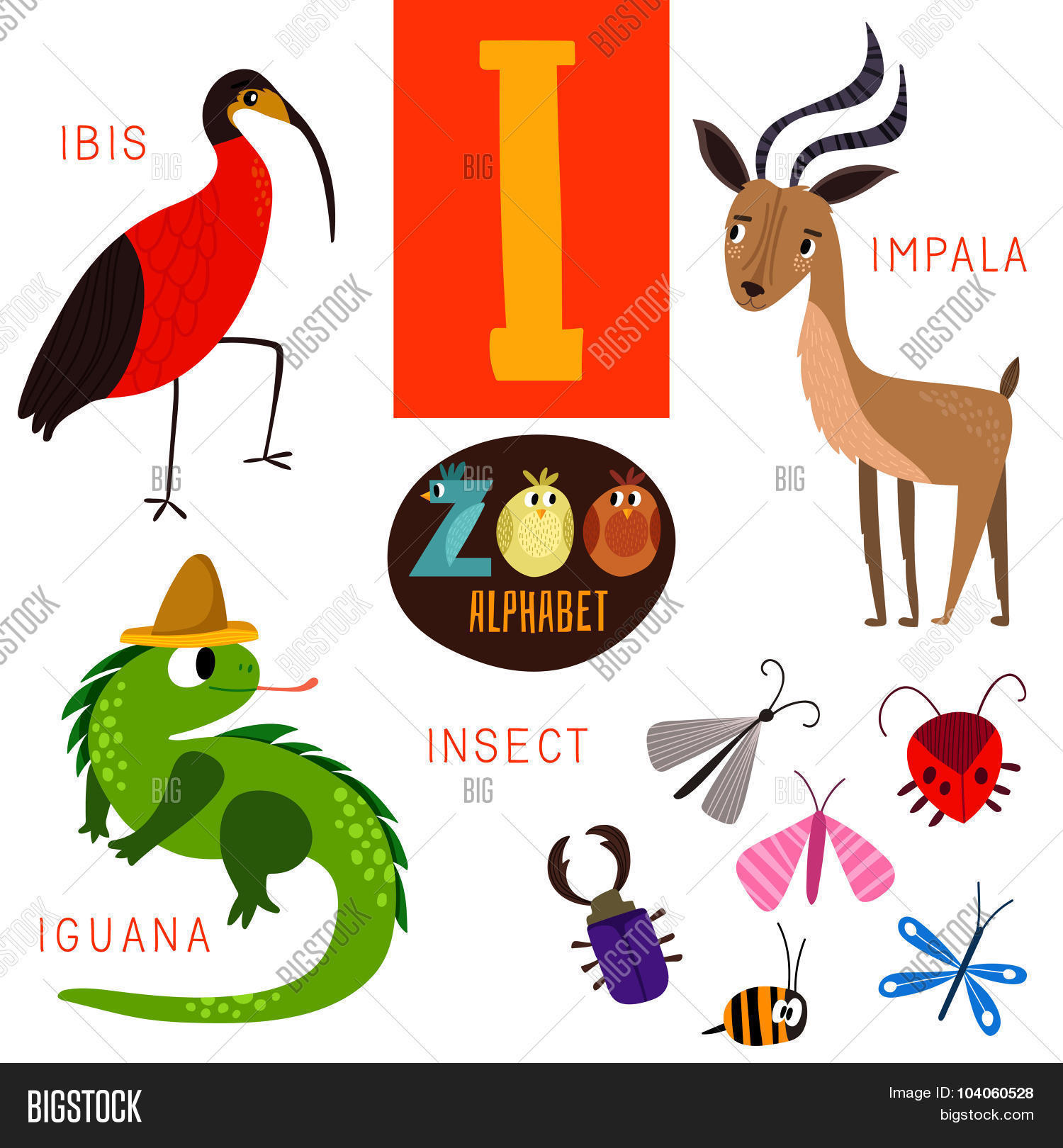 4 letter animals zoo alphabet vector photo free trial bigstock 20099 | 104060528