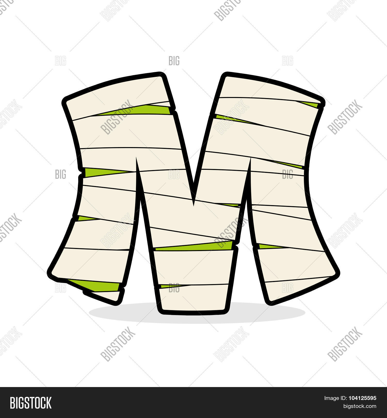 Letter M Mummy Vector Photo Free Trial Bigstock