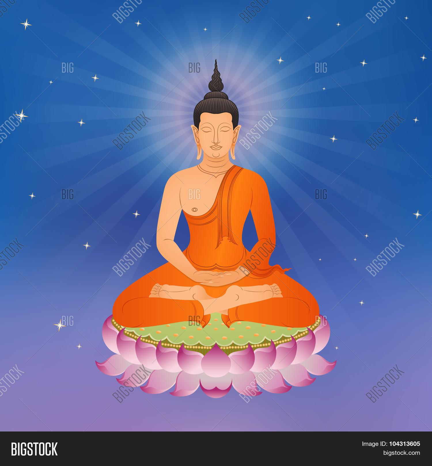 Thai buddha on lotus vector photo free trial bigstock thai buddha on lotus flower izmirmasajfo