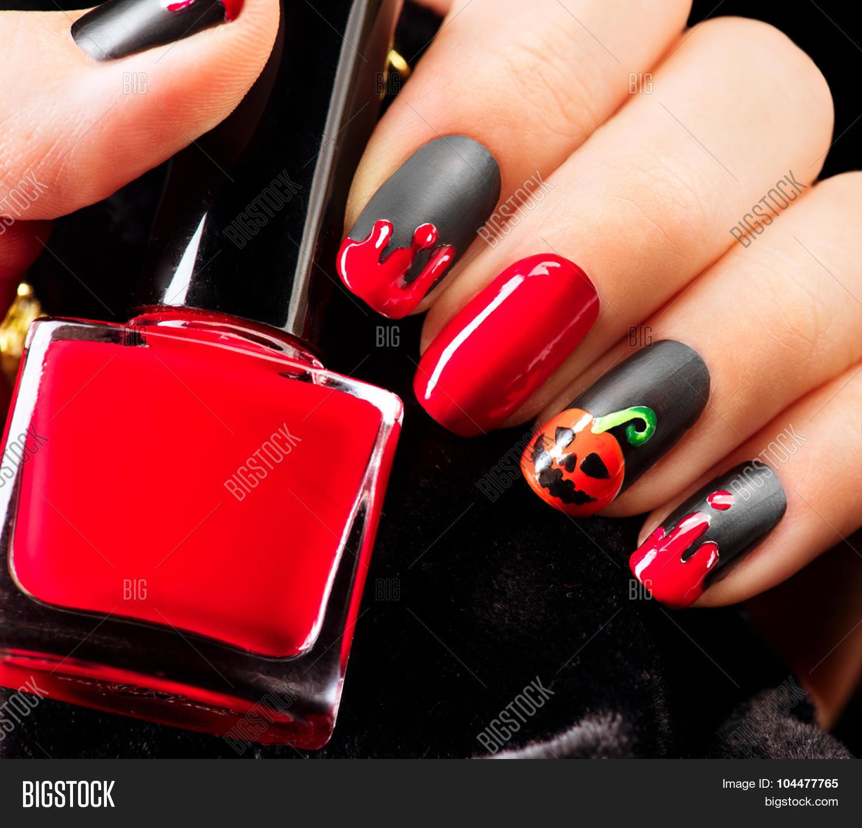 Halloween Nail Art Design. Nail Image & Photo | Bigstock