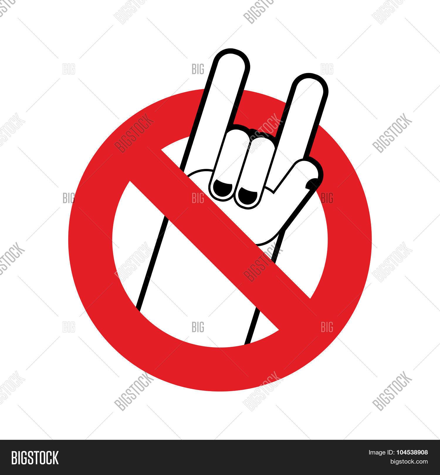 Stop rock ban lovers rock music vector photo bigstock stop rock ban for lovers of rock music red forbidding character forbidden rock buycottarizona