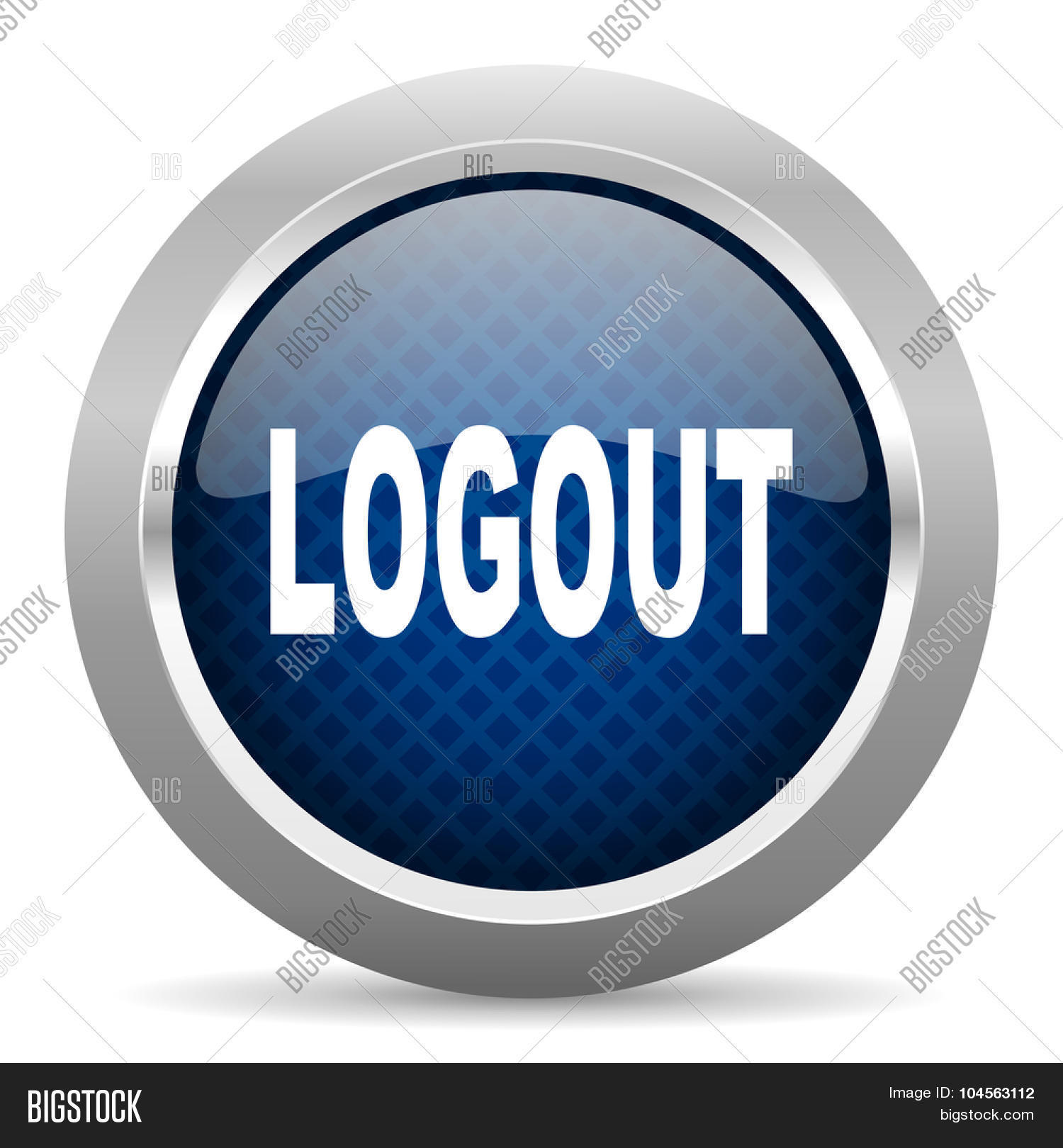 Logout blue circle glossy web icon image photo bigstock logout blue circle glossy web icon on white background round button for internet and mobile biocorpaavc