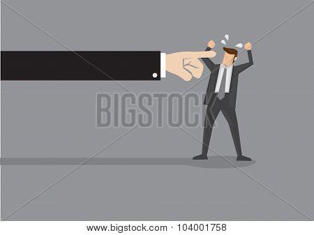 Finger Pointing Vector Illustration