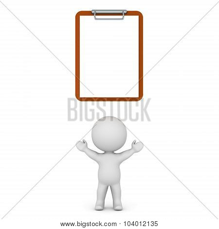 3D Character With Clipboard