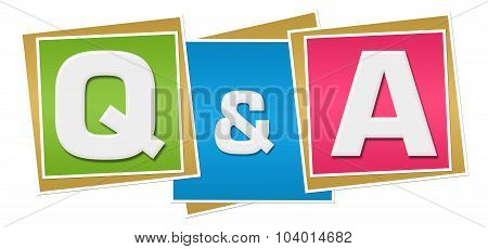 Q And A Colorful Blocks