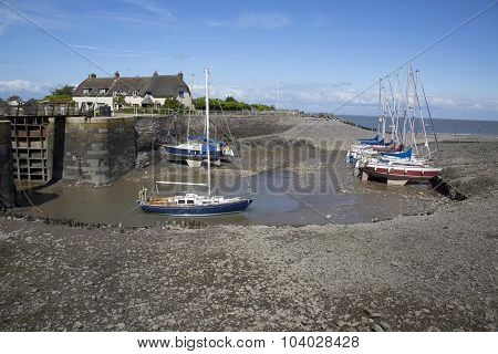 Pretty Harbour In Somerset