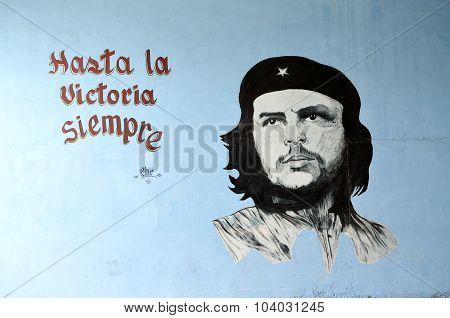 Che Guevara Painting in Santa Clara (Cuba)