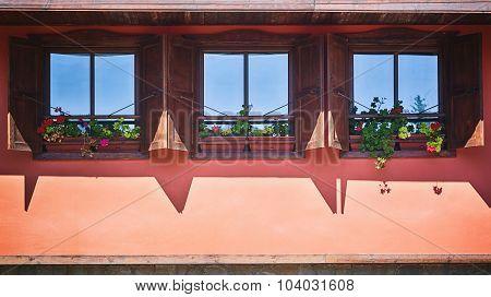 Dormer Windows With Flowers