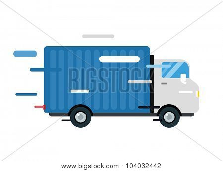 Delivery vector truck. Delivery service van. Delivery van vector silhouette. Delivery car icon. Fast delivery truck isolated. Vector delivery truck car driving fast. Delivery truck vector car. Post