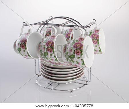 Teacup. Teacup Set On A Background. Teacup. Teacup Set On A Background.