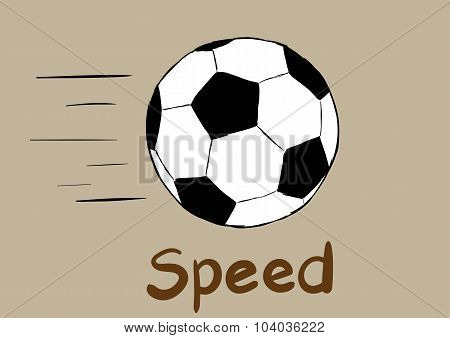 Soccerball and speed