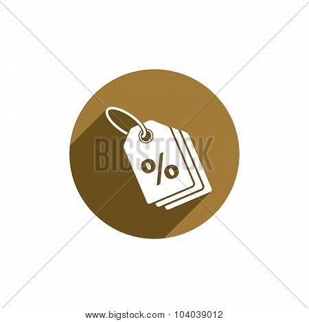 Tag Vector Icon Isolated, retail theme symbol