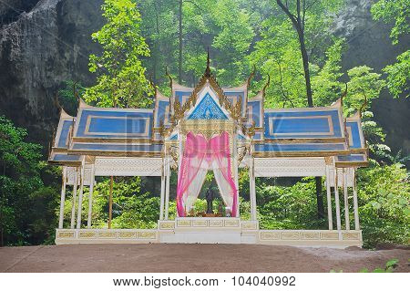 Exterior of the pavillon in Phraya Nakorn Khao Sam Roi Yot, Thailand.