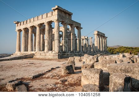 Afaia Temple, Aegina, Saronic Gulf, Greece