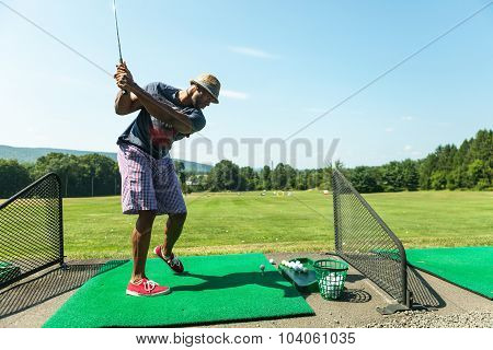 Golf Practice at the Driving Range