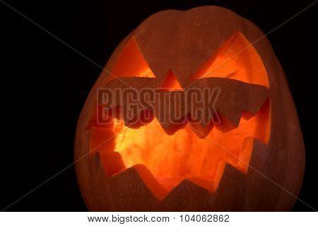 Jack Of The Lantern On Black Background