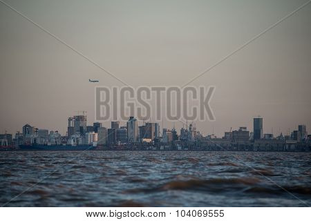 Buenos Aires Cityscape At Dusk.