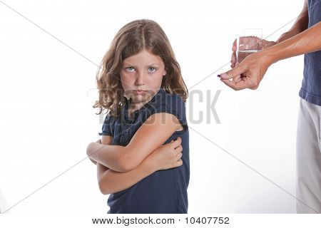 Girl Refuses Medicine