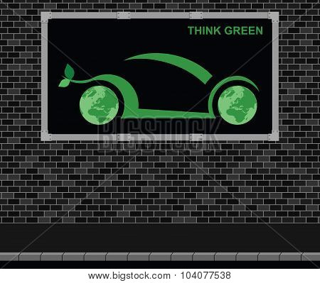 Car advertising board
