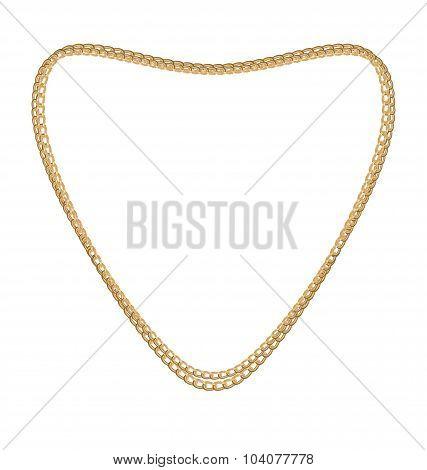 Jewelry Golden Chain of Heart Shape