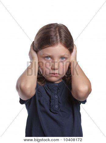 Little Girl Covering Ears