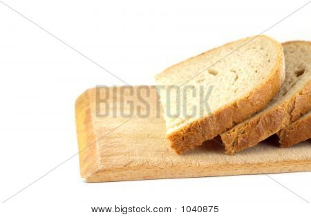 Slices Of Bread On Board