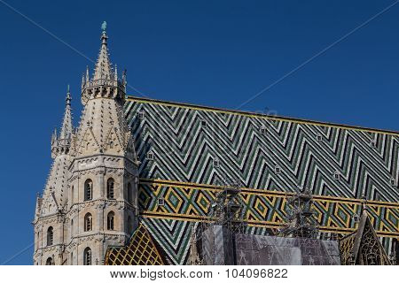 Part Of The Stephansdom In Vienna