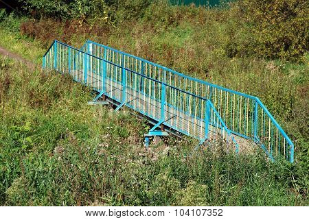 Footbridge through creek