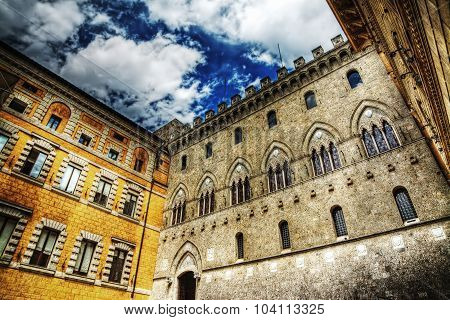 Historic Palaces In Siena