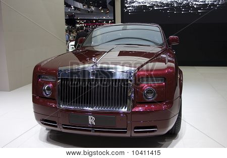 PARIS - OCT 10: Rolls Royce Ghost on display at the Paris Motor Show at Porte de Versailles