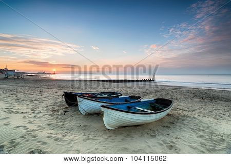 Sunrise on Bournemouth Beach