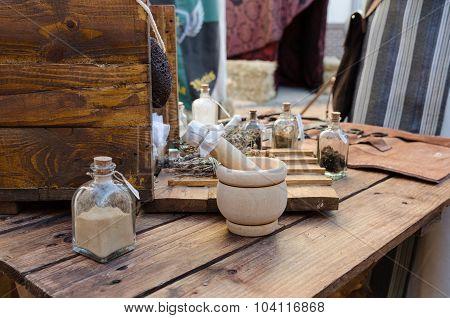 Box of medieval medical