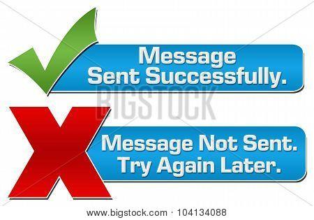 Message Sent Not Sent Banners