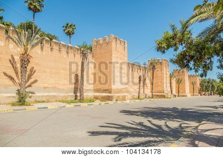 Ancient walls in Taroudant, Morocco