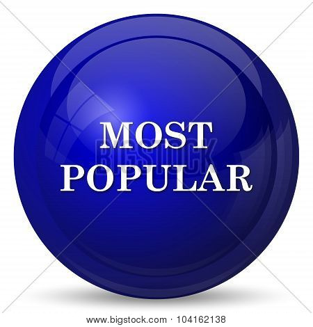 Most popular icon. Internet button on white background. poster