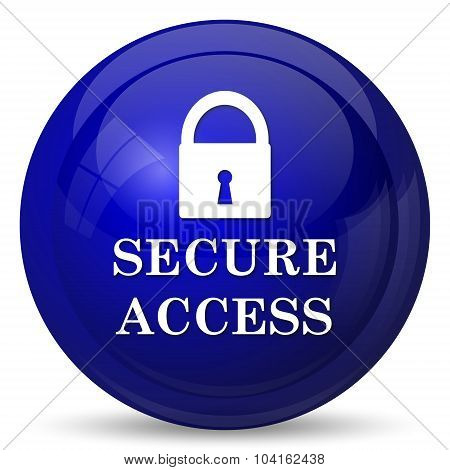 Secure access icon. Internet button on white background. poster