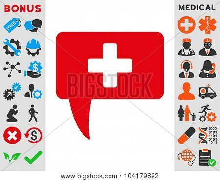 Medical Answer Flat Icon
