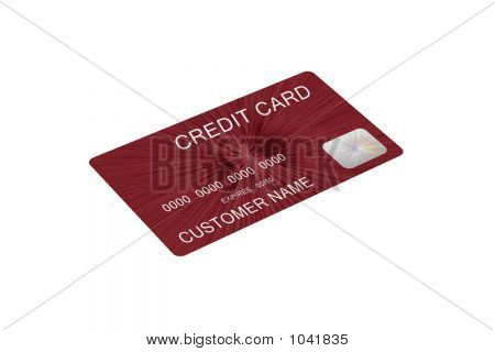 Mock Red Credit Card 3